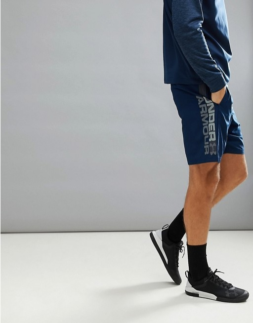 Under Armour Training Woven Graphic Shorts Navy