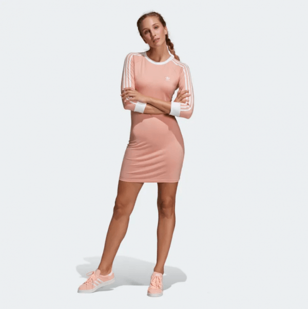 1adidas 3-Stripes Dress Pink DV2565