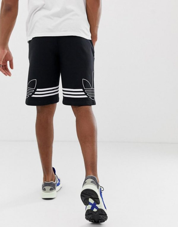 adidas-originals-black-Adidas-Original-Jersey-Shorts-Trefoil-Logo-Black-Du8135
